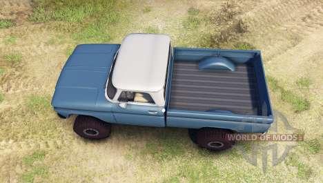 Chevrolet С-10 1966 Personalizado en dos tonos d para Spin Tires