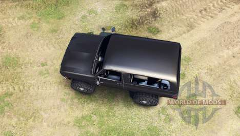 Chevrolet K5 Blazer 1975 [final] [black] para Spin Tires