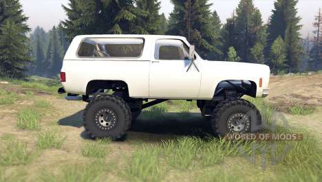 Chevrolet K5 Blazer 1975 [final] [white] para Spin Tires