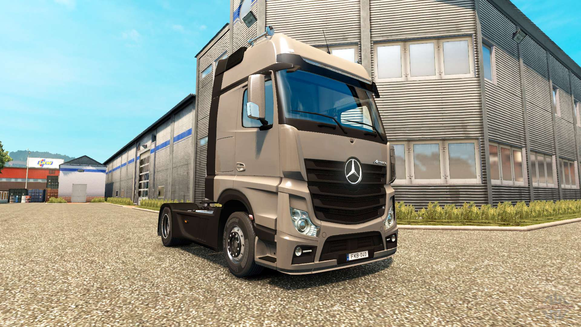 mercedes benz actros mp4 para euro truck simulator 2. Black Bedroom Furniture Sets. Home Design Ideas