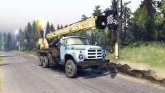 ZIL-133 camión grúa GA