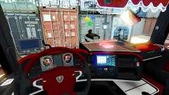 Interior rojo Scania