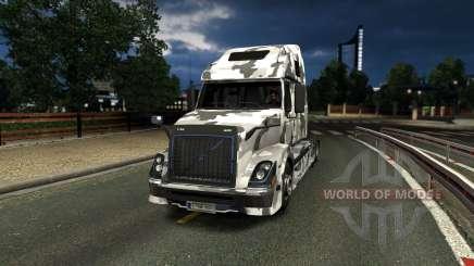 Volvo VNL 670 Urban Camo Skin para Euro Truck Simulator 2