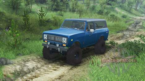 International Scout II 1977 [bimini blue poly] para Spin Tires