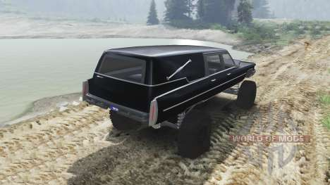Cadillac Hearse 1975 [monster] [black mass] para Spin Tires