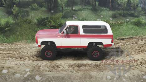 Chevrolet K5 Blazer 1975 [red and white] para Spin Tires