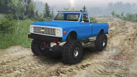Chevrolet C10 Cheyenne 1972 [blue] para Spin Tires