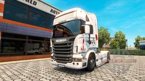 Assassins Creed la piel para Scania camión para Euro Truck Simulator 2