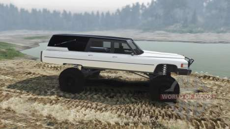 Cadillac Hearse 1975 [monster] [pale white] para Spin Tires