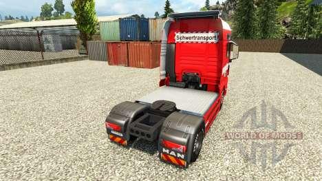 La piel de Max Goll en el camión MAN para Euro Truck Simulator 2