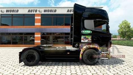 Etiqueta Engomada de la piel Bombas en la unidad para Euro Truck Simulator 2