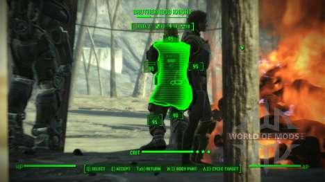 La precisión en V. A. T. S. para Fallout 4