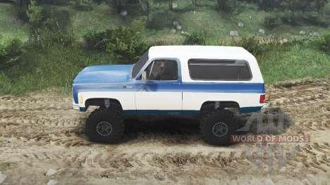 Chevrolet K5 Blazer 1975 [blue and white] para Spin Tires