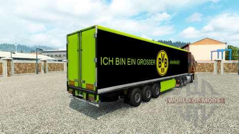 BVB de la piel para el remolque para Euro Truck Simulator 2