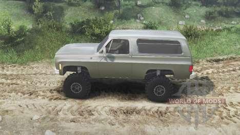 Chevrolet K5 Blazer 1975 [army green] [23.10.15] para Spin Tires