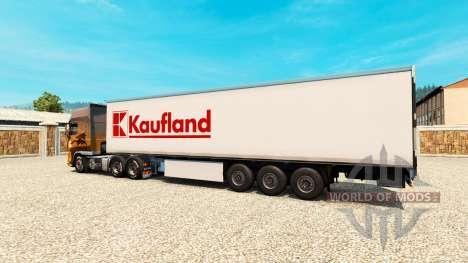 La piel Kaufland en el remolque para Euro Truck Simulator 2