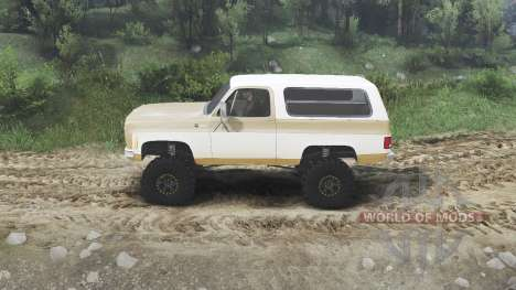 Chevrolet K5 Blazer 1975 [light saddle n white] para Spin Tires