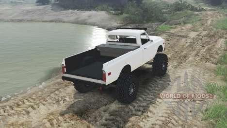 Chevrolet C10 Cheyenne 1972 [white] para Spin Tires