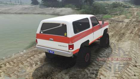 Chevrolet K5 Blazer 1975 [orange and white] para Spin Tires