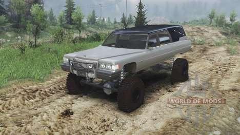 Cadillac Hearse 1975 [monster] [gray] para Spin Tires