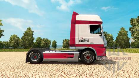Kitty Logística skin for DAF truck para Euro Truck Simulator 2