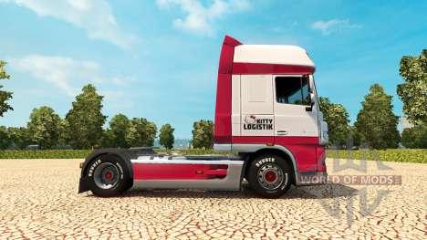 Kitty Logística skin for DAF truck para Euro Truck Simulator 2