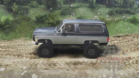 Chevrolet K5 Blazer 1975 [black and silver] para Spin Tires