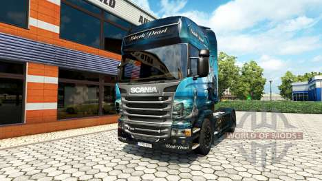 La Perla negra de la piel para Scania camión para Euro Truck Simulator 2