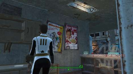 Blanco mono Bóveda 111 para Fallout 4