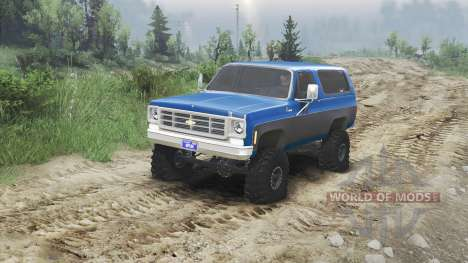 Chevrolet K5 Blazer 1975 [blue and black] para Spin Tires