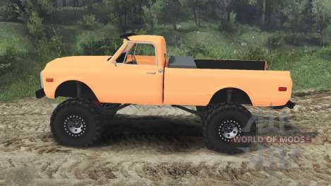 Chevrolet C10 Cheyenne 1972 [orange] para Spin Tires