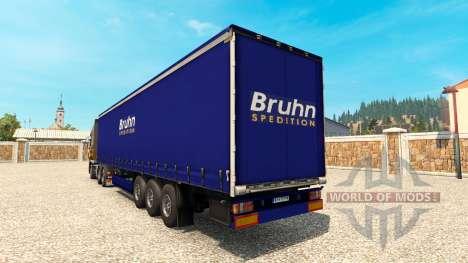 La piel Bruhn en el remolque para Euro Truck Simulator 2