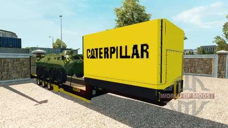 Bajo la cama semi-remolque con blindados de tran para Euro Truck Simulator 2