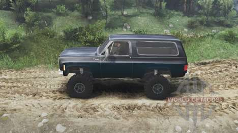 Chevrolet K5 Blazer 1975 [black and blue] para Spin Tires