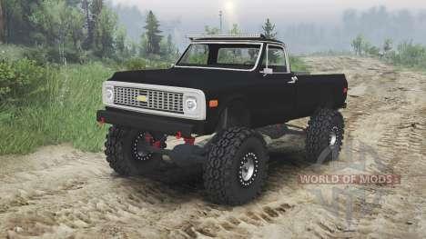 Chevrolet C10 Cheyenne 1972 [black] para Spin Tires