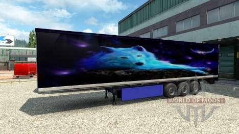 La piel del Lobo remolque para Euro Truck Simulator 2