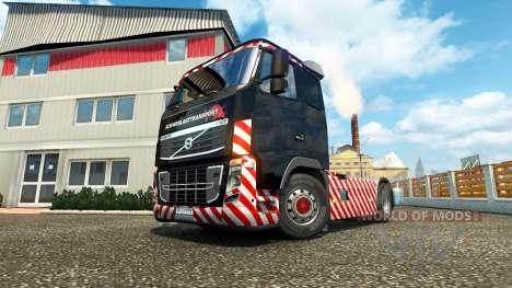 Schwerlasttransport skin for Volvo truck para Euro Truck Simulator 2