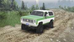 Chevrolet K5 Blazer 1975 [green and white]