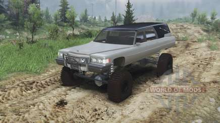 Cadillac Hearse 1975 [monster] [gray] para Spin Tires