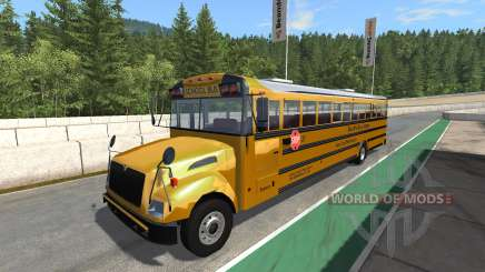 Blue Bird American School Bus v2.1 para BeamNG Drive