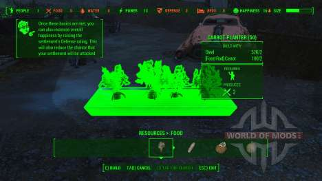 Working Food Planters para Fallout 4