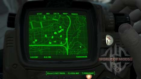 Immersive Map 4k - BLUEPRINT Inv. - Big Squares para Fallout 4