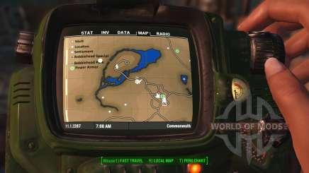 Mapa a Color con símbolos para Fallout 4