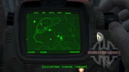 Immersive Map 4k - BLUEPRINT Inv. - Full Squares para Fallout 4
