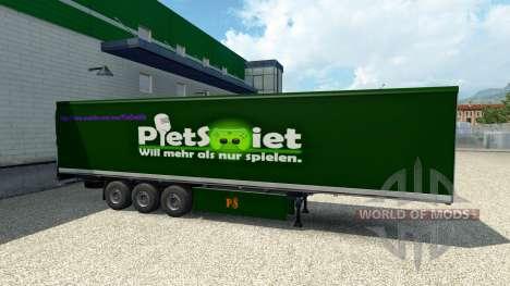 PietSmiet de la piel en el remolque para Euro Truck Simulator 2