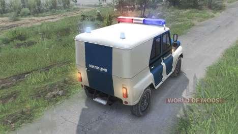 UAZ-31519 de la Policía [08.11.15] para Spin Tires