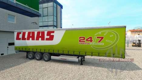 La piel de CLAAS remolque para Euro Truck Simulator 2