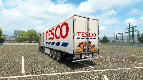 Tesco de la piel en el remolque para Euro Truck Simulator 2
