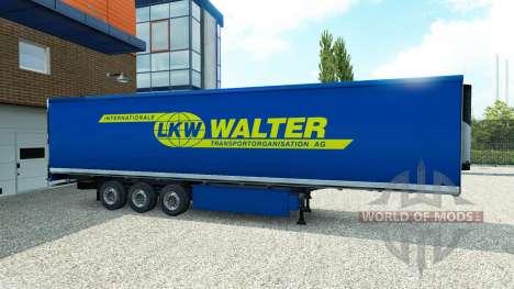 La piel de Walter en el remolque para Euro Truck Simulator 2