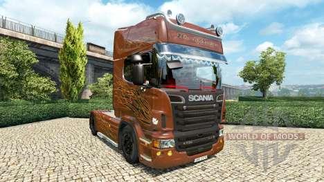 Scania R Black Amber v2.5 para Euro Truck Simulator 2